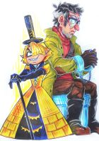 hum-Bill and Ford_traditional by KoTana-Poltergeist