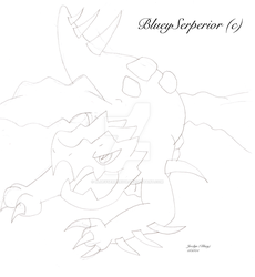Druddigon Sketch by BlueySerperior