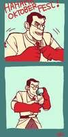If Medic couldn't drink beer by Tinypop