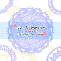 10th Anniversary Brushes by kabocha