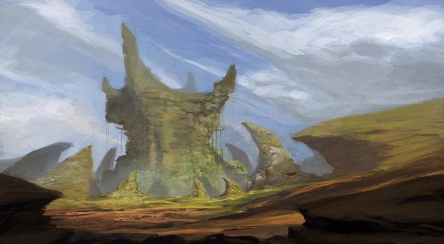Color and light Study (Evil Abandoned Fortress) by TacticsOgre