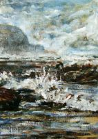 Seascape sketch 2 by delph-ambi