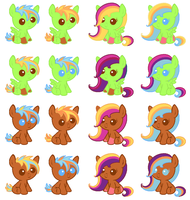 Evan Cookie Babies CLOSED by Pony-Paradice