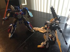Optimus Prime vs Barbatos Lupus Rex by XrosBrony
