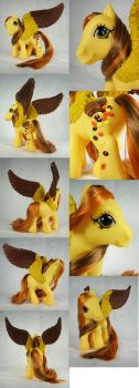 Peanut Butter Princess custom pegasus by Woosie