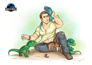 Owen And His Raptors - Jurassic World by iszac87