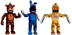 Funtime Withered Animatronics WIP 2 by TheGoldenGamer90010
