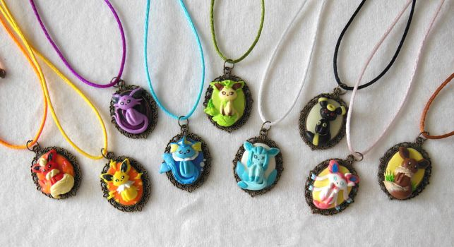Eeveelution Cameo Pendant by LittleBreeze