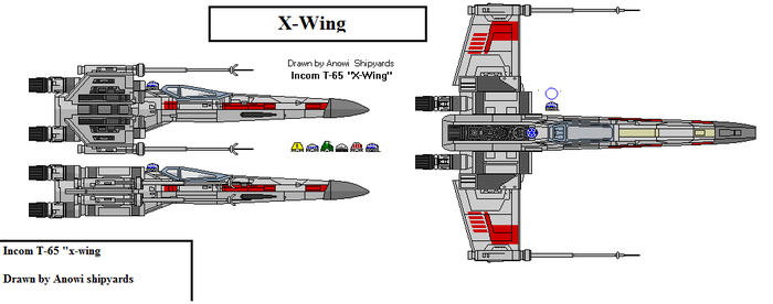 Incom T-65 X-wing by AnowiShipyards