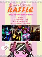 1000+ Raffle / Free Art Giveaway ! [END] by monoChromacat