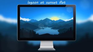 Lagoon At Sunset By Desinguchiha by designuchiha
