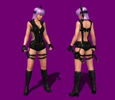 NG3RE - Ayane Dusty Black Infiltrator Outfit by IshikaHiruma