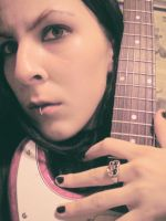 Old Photo with Guitar by TrizDarmon