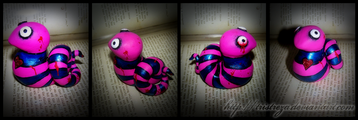 Finished Leech Sculpture by Tristreza