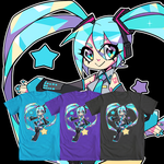 Digital Star Hatsune Miku- We Love Fine Shirt by Techycutie