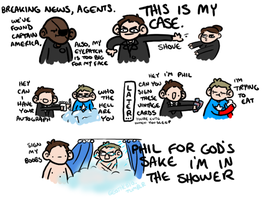 Actual fanboy Phil Coulson by geothebio