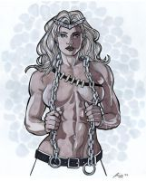 Thundra 11 x 14 Ink and marker by Barracuda9999