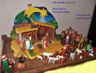 A Playmobil Nativity: Happy Christmas to you all! by MoonyMina