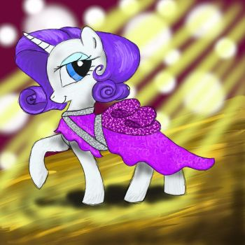 Rarity Painted by HuckleberryPony