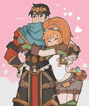 Battlerite, Lucie and Raigon by SplashBrush