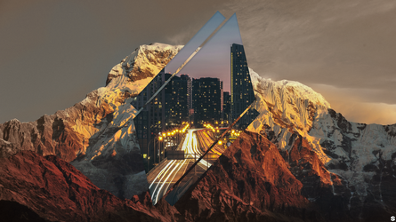 4k wallpaper mountains/city by shortyshrimp