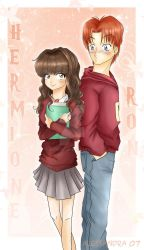 Ron and Hermione by Aleccha