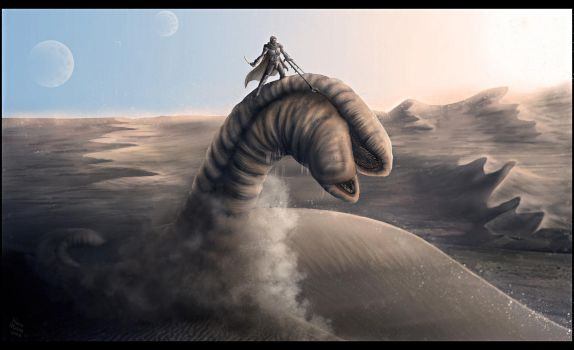 Dune - Ride the sandworm by leywad