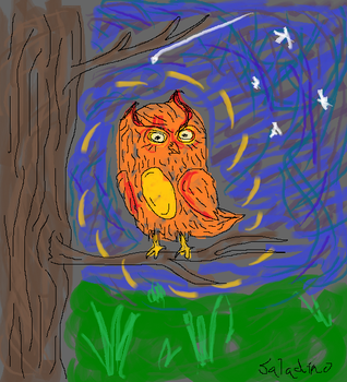 MS Paint Owl by ultranewt