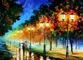 Perspective Of The Night by Leonid Afremov by Leonidafremov
