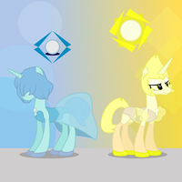 Homeworld Gems - Blue and Yellow Pearl by MLP-TrailGrazer