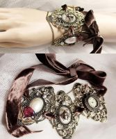 Massive Steampunk rococo choker or bracelet I by Pinkabsinthe