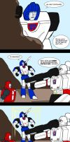 Cliffjumper and Mirage by Comics-in-Disguise