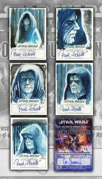 Topps Emperor Palpatine Sketchcards by CalSparrow