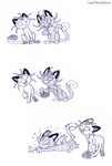 Meowth meows, gravity works. by Un-Gato