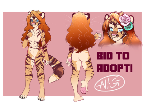 Tiger lady - Auction adopt CLOSED by Negatable