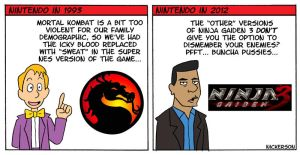 Nintendo Censorship - Then and Now by joshnickerson