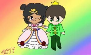 (AT) Princess Mimi and Prince Raven by BabyPeachs1Fan