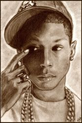 - Pharrell Williams - by lizzzy-art