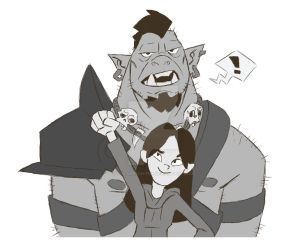 Orcs are cool by The-Sketch-Fox
