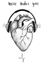When music makes your heart beat by AudreyRt