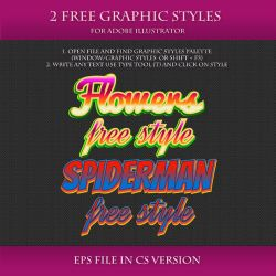 FREE Graphic Styles for Adobe Illustrator #18 by Love-Kay
