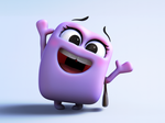 Zbrush Doodle: Day 1292 - Purple cube greetings by UnexpectedToy