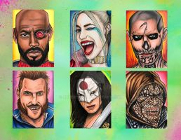 Suicide Squad ATC's by Robert628