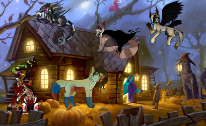 Halloween Collab 2015 (process picture) (ended) by simanunan