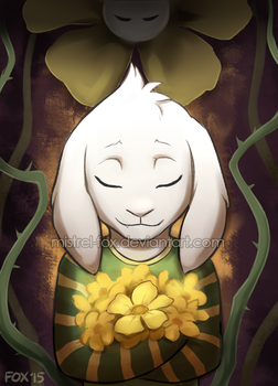 ::Undertale:: Asriel by Mistrel-Fox