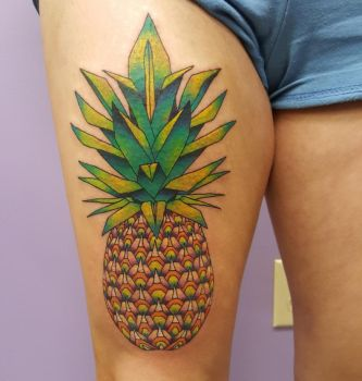Pineapple tattoo! by Pinkuh