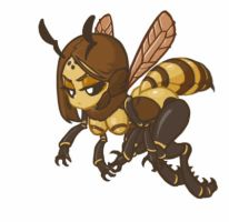MonsterGirl_014 Honeybee (Soldier) by MuHut