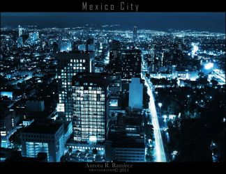 ..Mexico City Nightscape.. by Lethalxr0se