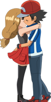 Amourshipping Kiss Render by BriannaBellerose
