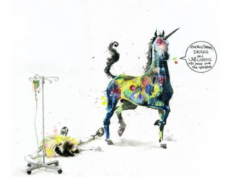 DRUGS AND UNICORNS by lora-zombie